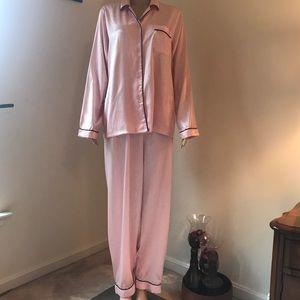 Victoria's Secret Angels pink satin 2 pc PJ set